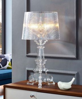 French Grande Table Lamp in Clear 2908