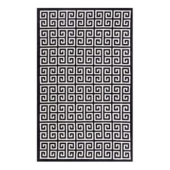 FREYDIS GREEK KEY 5X8 AREA 1013A RUG IN BLACK AND WHITE