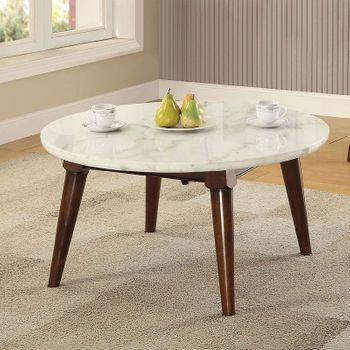 Gasha Coffee Table with Marble Top # 82890