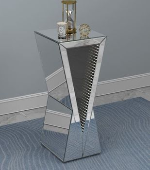 Geometric Accent Table Silver 951764