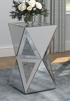 Geometric Side Table Silver 930216
