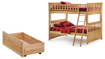Ginger Full/Full Bunk with Storage Set- 10-year warranty