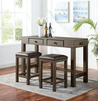 Guald 3PC Counter Height Table and Stools CM3792PT