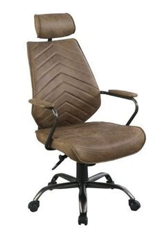 High Back Upholstered Top Grain Office Chair