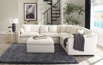 Hobson Cushion Modular Sectional Off-White 551451