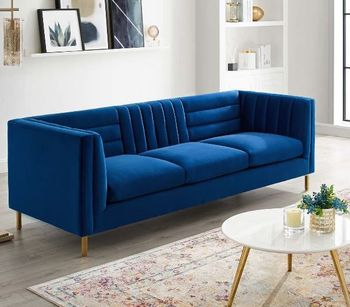 Ingenuity Channel Tufted 3454 Performance Velvet Sofa