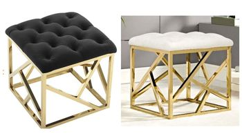 Intersperse Ottoman in Gold