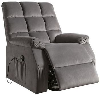 Ipompea Velvet Recliner w/Power Lift & Massage chair # 59262
