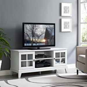 """Isle 47"""" TV Stand in White 2540"""