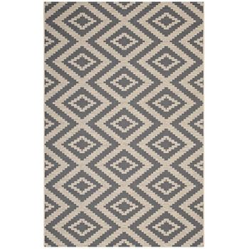 JAGGED GEOMETRIC DIAMOND 1135A TRELLIS 5X8 INDOOR AND OUTDOOR AREA RUG