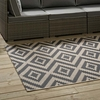 JAGGED GEOMETRIC DIAMOND TRELLIS 8X10 1135A-810 INDOOR AND OUTDOOR AREA RUG
