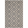JAGGED GEOMETRIC DIAMOND TRELLIS INDOOR AND OUTDOOR AREA RUG IN GRAY AND BEIGE