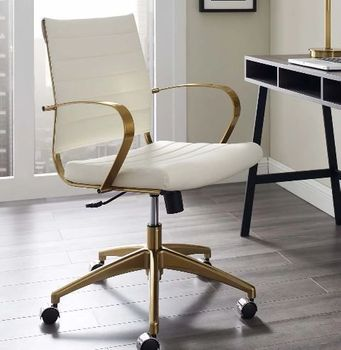 Jive Gold Stainless Steel Midback Office Chair in Gold