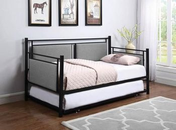 Joelle Metal Daybed Twin bed with Trundle