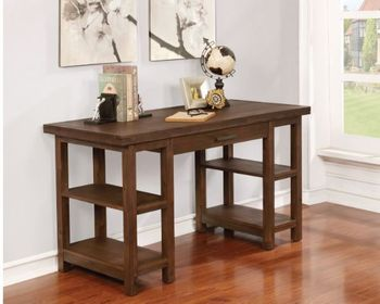 Kennesaw 4-Shelf Writing Desk Country Brown