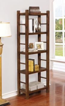 Kennesaw 4-Tier Bookcase Country Brown