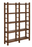 Kennesaw 4-Tier Double Bookcase Country Brown 802783