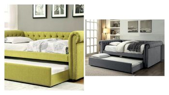 Leanna Upholstered Daybed with trundle