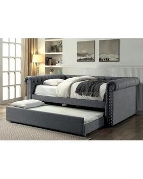 Leanna Upholstered Full size daybed with trundle # CM1027