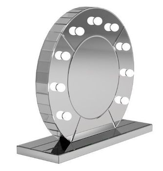 LED Table Mirror Silver 961564