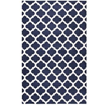 LIDA MOROCCAN TRELLIS 8X10 AREA 1001A RUG IN NAVY AND IVORY
