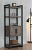 Luke 4-Tier Bookcase Weathered Oak And Black