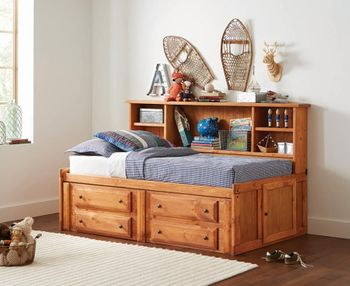 Made in USA Wrangle Hill Twin Storage Daybed Amber Wash