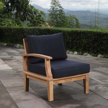 MARINA OUTDOOR PATIO TEAK LEFT-FACING CHAIR IN NATURAL