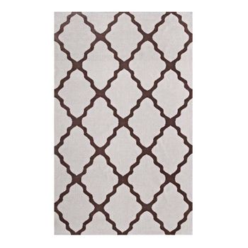 MARJA MOROCCAN TRELLIS 8X10 AREA 1003E RUG IN BROWN AND GRAY
