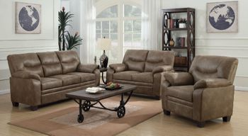 Meagan Upholstered Sofa With Pillow Top Arms 506561