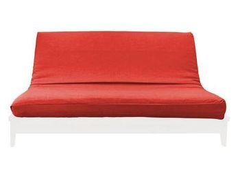 MEDLEY RED LINEN TEXTURE FUTON COVER