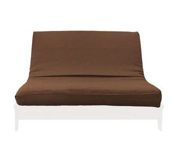 MEDLEY TWIN CHOCOLATE LINEN TEXTURE FUTON COVER