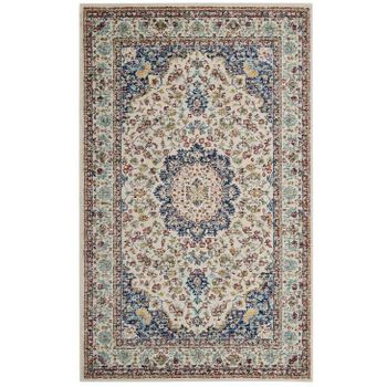 MERYAM DISTRESSED PERSIAN MEDALLION 5X8 AREA 1147A RUG IN MULTICOLORED