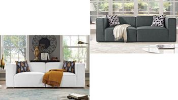 Mingle 2 Piece Upholstered Fabric Sofa