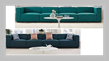 Mingle 4 Piece Upholstered Fabric Sectional Sofa