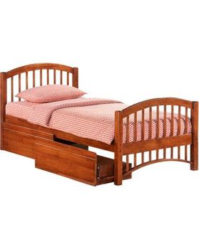 Molasses Full Size Bed with storage - 5-year warranty