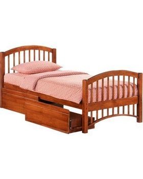 Molasses Twin Size Bed with storage - 5-year warranty