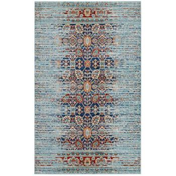 NARIA DISTRESSED PERSIAN 1146A MEDALLION 5X8 AREA RUG