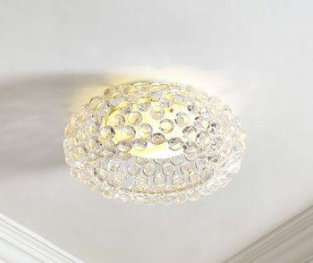 "Halo 19"" Acrylic Ceiling Fixture in Clear"