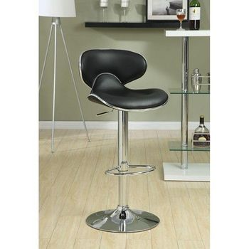 Floor Model Bar Stools Adjustable Height Contemporary Bar Stool with Swivel Seat