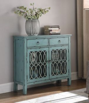 2-Drawer Accent Cabinet Blue
