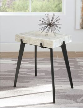 Rectangular Accent Table White And Black