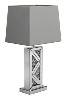 Geometric Base Table Lamp Silver
