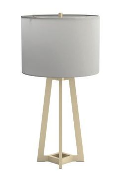 Drum Shade Table Lamp White And Gold