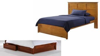 Tarragon Platform bed with 2 Short storage drawers- P Series