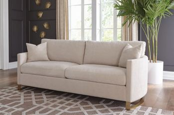 Corliss Upholstered Arched Arms Sofa Beige