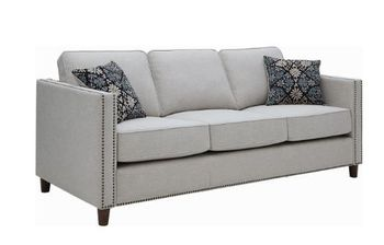 Coltrane Upholstered Sofa With Nailhead Trim Putty