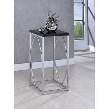 Floor Model 930013 Accent Tables Contemporary with Black Top