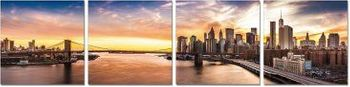 Premium Acrylic Wall Art New York Sunset - SH-72098ABCD