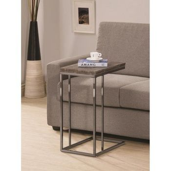 Floor Model Expandable Top Accent Table Weathered Grey And Black 902864